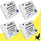 Four Halcyon 1600 MAH Lithium Ion Replacement Battery For Canon PowerShot SX280 HS Digital Camera And Canon NB...