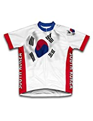 South Korea Flag Short Sleeve Cycling Jersey for Women