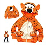NiSHa – Children's Clothing Baby Tiger Hooded Coat, Baby Tiger Winter Jacket, Kid Boys Autumn Coat, Boy Outwear Jacket Kid Clothing Orange Color Size: 2T, 3T, 4T, 5T, 6T, 7T thumbnail