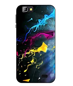 Case Cover Kite Printed Blue Soft Back Cover For LYF Wind 5