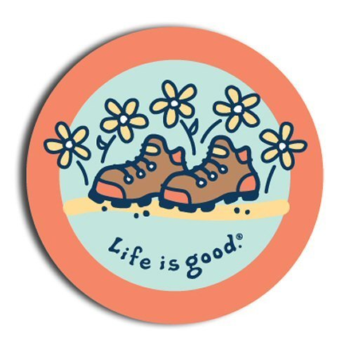 Hiking Boots with Flowers Sticker - - CHEVY ORANGE