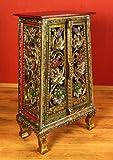 Asiatische Kommode im Glasmosaik-Look, Schrank, Asien (Thailand, Bali, Indonesien) Möbel (H:82cm B:48cm T:29cm Nr.36)