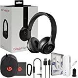 Beats Solo3 Wireless On-Ear Headphones - Black - W/MFI iWalk Lighting 3K Battery Pack & Car Charger (Certified Refurbished)