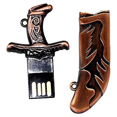 16 GB Pen Drive Kirpan Shape Copper Color USB 2.0 Pen Drive MT1006