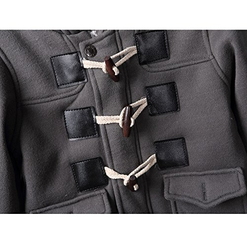 Baby Unisex Down Quilted Hooded Coat Outerwear Jacket Gray Brown Colors (7-12m, Gray)