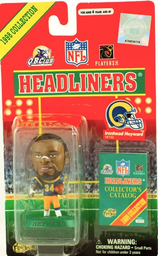 Buy Low Price Corinthian 1998 – Corinthian – NFL – Headliners – Ironhead Heyward #34 – St. Louis Rams – 3 Inch Sports Figure – w/ Collector's Catalog – Rare – Limited Edition – Collectible (B002HSX3ZM)
