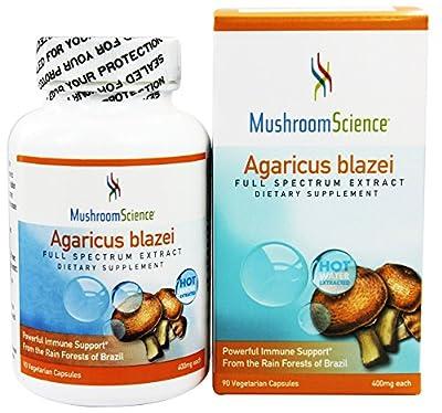 Mushroom Science - Agaricus Blazei 400 mg. - 90 Vegetarian Capsules