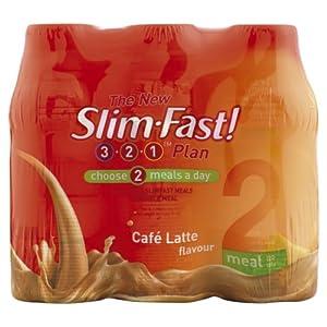 Slim.fast! Cafe Latte Shake 6 x 325ml