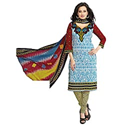 Rajnandini Women's Ethnic Wear Yellow Pure cotton Printed Unstitched salwar suit Dress Material (Free Size)