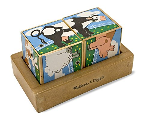 Melissa & Doug Farm Sound Blocks(Batteries not included)