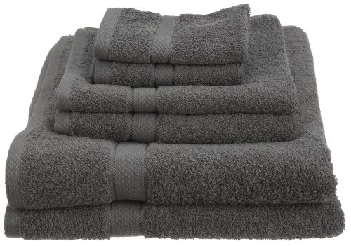 Pinzon Egyptian Cotton 725-Gram 6-Piece Towel Set, Gray