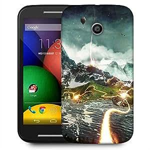 Snoogg Animated Nature View Designer Protective Phone Back Case Cover For Motorola E / Moto E