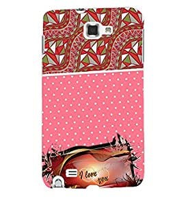 Fuson 3D Printed Love Designer back case cover for Samsung Galaxy Note 1 - D4129