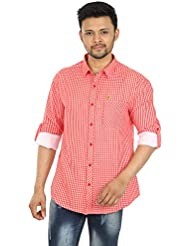 Spykar Orange Formal Regular Fit Shirt