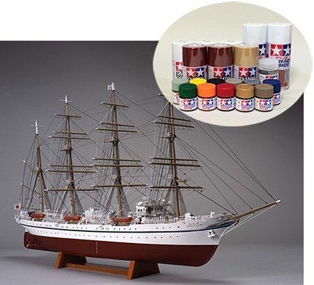 woody-joe-wooden-model-sailing-ship-1-160-nippon-maru-none-sail-berth-paint-set
