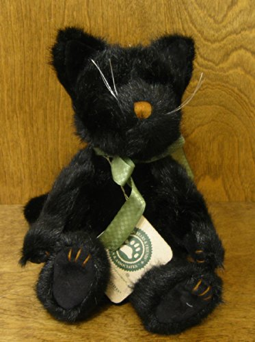 Boyds Bears Plush COALCRACKER NINELIVES 5304007 Cat Black Bean - 1