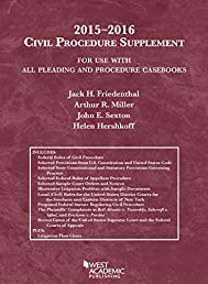 Civil Procedure Supplement, For Use with All Pleading and Procedure Casebooks (Selected Statutes)