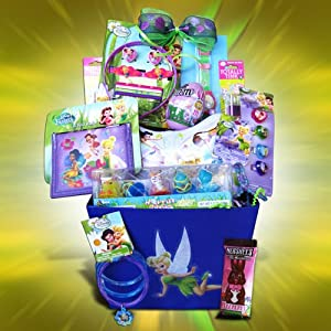 Easter gift baskets for girls which girl would not want a tinkerbell gift basket for easter this gift basket for girls come with tinkerbell accessories like purse wallet negle Gallery