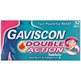 HayMax Gaviscon Double Action 32 Heartburn & Indigestion Relief Tablets