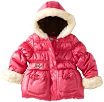 London Fog Baby-Girls Infant Fashion Heavy Weight, Fuchsia, 18 Months