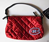 NHL Montreal Canadiens Quilted Wristlet, Dark Red