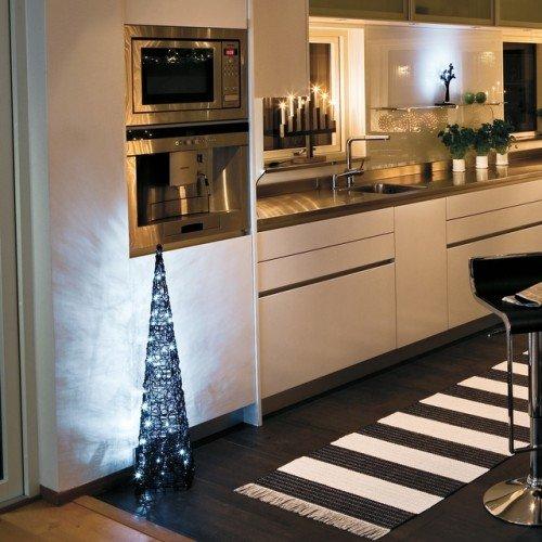 LED Mini-Lichterkette für Innen, 20 klare Kerzen