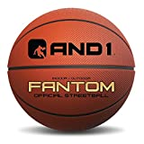 "AND1 Xecelerate Basketball - Rubber Street Ball 29.5"", Full Size 7, College, NBA, Indoor / Outdoor - Orange"