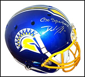 Buy David Fales Autographed Signed San Jose State Spartans Schutt Full Size NCAA Helmet