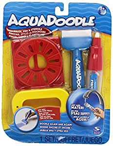Aquadoodle Brush, pen, and stencils with bonus spill-proof cup