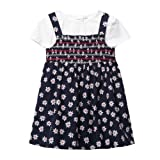 Bluezoo Kids Babies Navy Daisy Pinafore And T-Shirt From Debenhams 3-6 Months