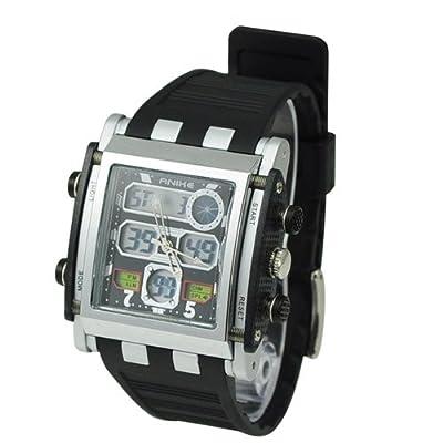 Metro Shop Chic Multi-functional CHM SPL ALM 50M Waterproof Dual Time Analog Digital Sports Watch AK1057