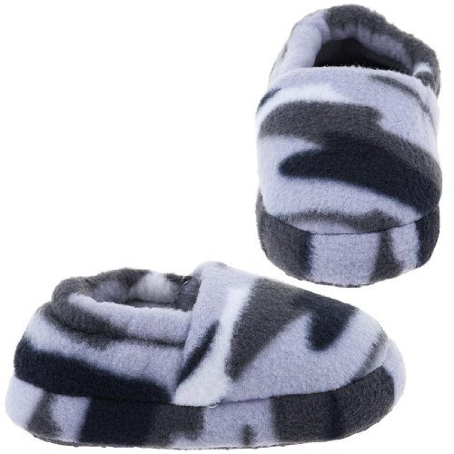 Capelli New York Camo Printed Fleece Moccasin Toddler Boys Indoor Slippers Grey Combo 4/5