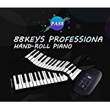 88 Keys Flexible Silicon Roll up Piano with MIDI & Speaker Keyboards Instrument