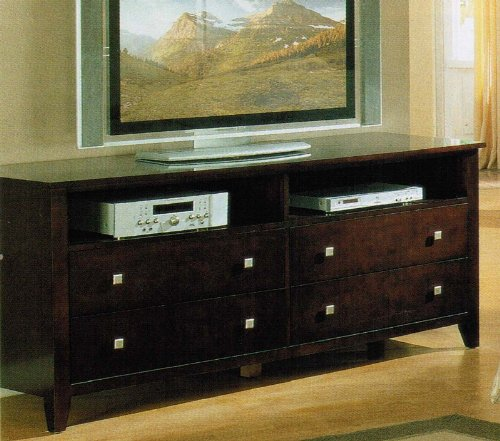 Cheap Entertainment Console Plasma LCD TV Stand Espresso Finish (VF_AM4925)