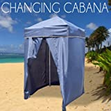 Portable Changing Cabana Tent Patio Beach Pool Navy Blue