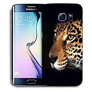 Snoogg Leopard Face Designer Protective Back Case Cover For SAMSUNG GALAXY S6 EDGE