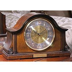 Bulova B1975 Chadbourne Old World Clock, Walnut Finish