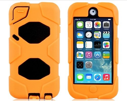 2-In-1 Robot Design Hard Plastic & Silicone Shockproof Case For Ipod Touch 5 (Orange)
