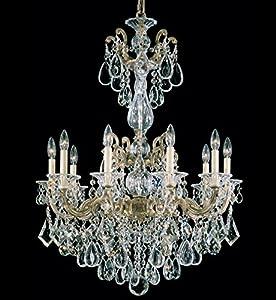 Schonbek 5008 48 Swarovski Lighting La Scala Chandelier Antique Silver A