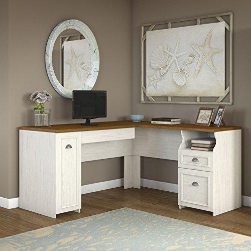 Fairview L Shaped Desk in Antique White (Bush Fairview compare prices)