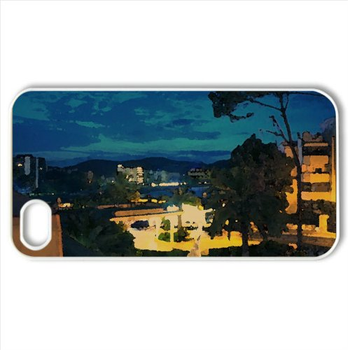 Palma Nova By Night Watercolor Style Cover Iphone 4 And 4S Case (Spain Watercolor Style Cover Iphone 4 And 4S Case)