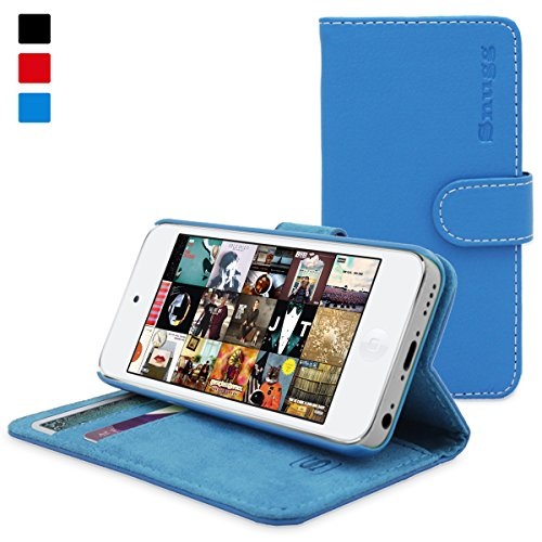 Snugg iPod 5th/6th Generation Case - Flip Cover & Lifetime Guarantee (Electric Blue Leather) for Apple iPod Touch 5th/6th Generation
