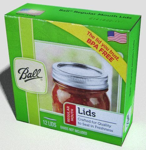 Ball Regular Mouth Size Canning or Mason Jar Lids, 8 dozen or 96 lids total