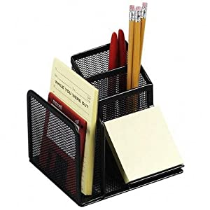 Rolodex mesh collection desk organizer black - Black mesh desk organizer ...