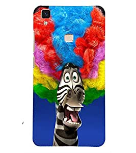 PRINTSOPPII FUNNY Back Case Cover for Vivo V3 Max