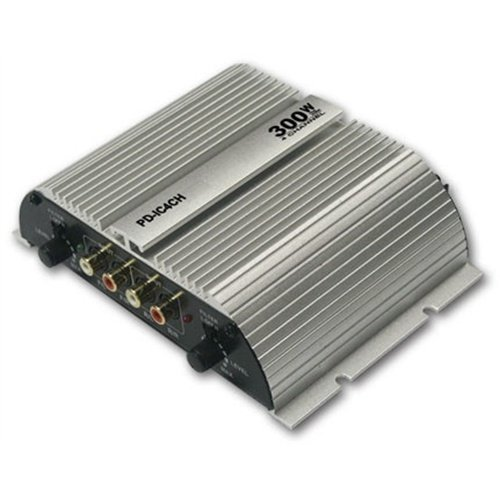 Q Power Pdic4Ch 300W 4 Ch Car Audio Amplifier Amp 300 Watt 4 Channel