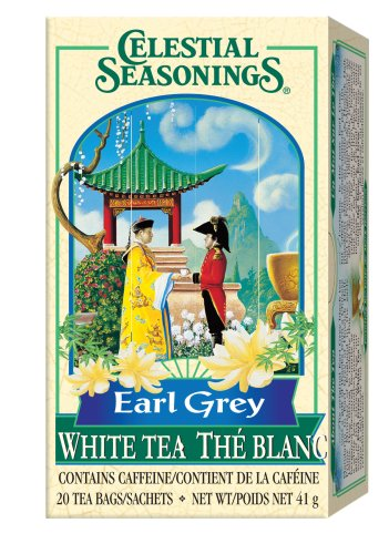 Buy Celestial Seasonings Earl Grey White Tea, 20 Count, 1.46 Ounce Boxes (Pack of 6) (Celestial Seasonings, Health & Personal Care, Products, Food & Snacks, Beverages, Tea, White Teas)