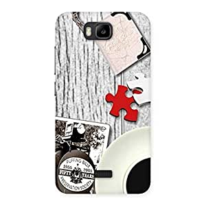 Vintage Style Multicolor Back Case Cover for Honor Bee