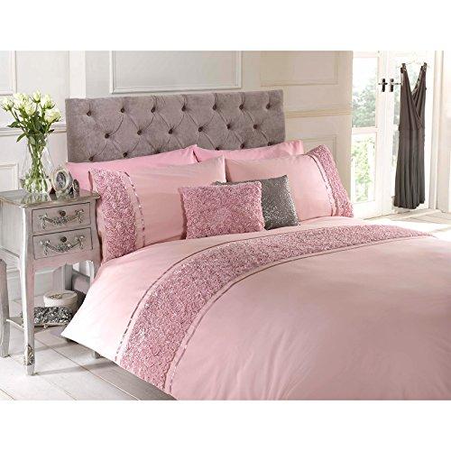 rose-ruffle-bettwasche-set-chic-vintage-bettwasche-kissenbezuge-tropen-design-baumwollmischung-rose-