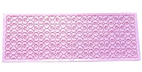 Allforhome Dense Small Heart Silicone Lace Fondant Mats Polymer Clay Mats Resin Cake decorating Molds Mould6.49